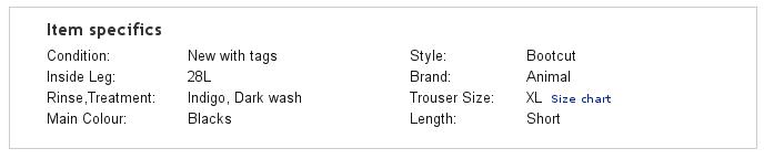 PrestaShop ebay module — Selling Profile — Item Specifics tab