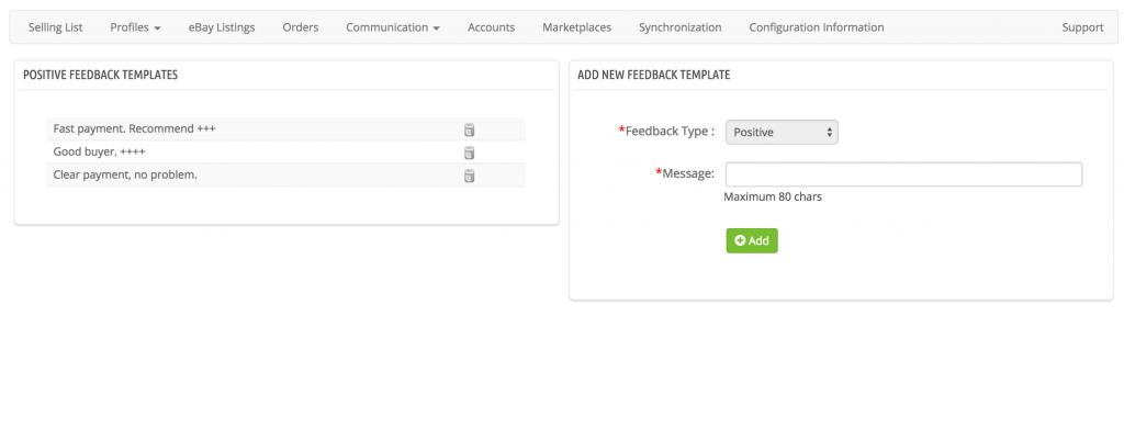Ebay Feedback Response Templates